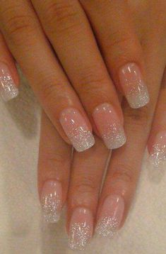 False nails have the advantage of offering a manicure worthy of the most advanced backstage and to hold longer than a simple nail polish. The problem is how to remove them without damaging your nails. Marriage is one of the… Continue Reading → Fancy Nails, Love Nails, How To Do Nails, My Nails, Sparkly Nails, White Sparkle Nails, White Gel Nails, Dark Nails, Black Nail