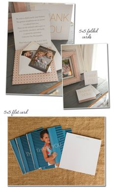 Inside, We Attach A Small Envelope With 8 Rounded Corner Wallets From Their Session Encouraging People To Hand Them Out To Their Friends And Family Recommending Catherine Clay Photography.
