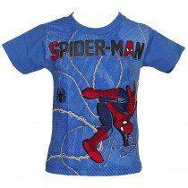 Camiseta Manga Curta Homem Aranha Azul - Brandili 5c8c3ee1ce1