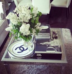 Chanel coffee table decor