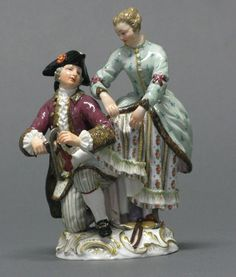 A Meissen Figure Group: Iceskaters