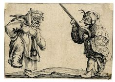 Two grotesque figures, after Jacques Callot (British Museum)