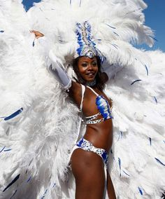 Miss Universe 1998 Wendy Fitzwilliam attends the final day of the #Trinidad and #Tobago #Carnival at Queen's Park Savannah