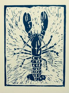 Who doesnt love lobster? Heres mine, a characterful crustacean that I had great fun carving. I hope to do a series of sea creatures, so watch this space! Black Lobster is in black water based ink on high quality card, ideal for framing. Watch This Space, Black Water, Sea Creatures, Carving, Ink, Cards, Etsy, Products, Wood Carvings