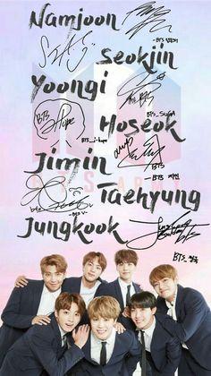 Namjoon💖 Jin💖 Yoongi💖 J hope💖 Jimin💖 Jungkook💖 & Taehyung💖 B T S 💙 Bts Jungkook, Namjoon, Seokjin, Bts Lockscreen, Foto Bts, K Pop, Bts Signatures, Bts Group Photos, Album Bts