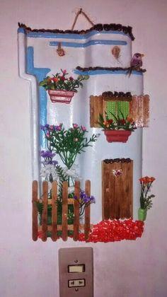 Telha decorada