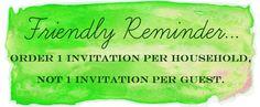 How Many Wedding Invitations Should I Order? {blog article}
