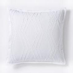 Roar + Rabbit Zigzag Texture Duvet Cover + Shams - White