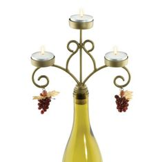 Another wine bottle candelabra with grape charms, ~$14