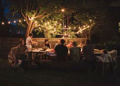 Surprise Proposal at Backyard birthday dinner party. So sweet.