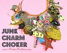 Clean out your junk drawer and make a statement necklace! by Mark Montano