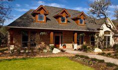 Texas limestone ranch house