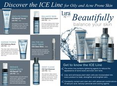 Acne and oily skin solutions. This fact sheet delivers information about all the products in  the Lira Clinical ICE Line.
