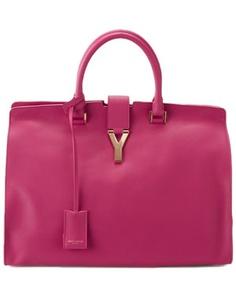 Saint Laurent  Grand Cabas Y  Leather Satchel Borse Rosa 3d627de9aab