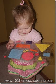 Shape placemat Craft for Toddlers