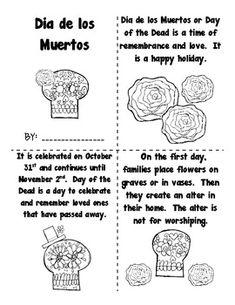 Dia de los Muertos/Day of the Dead mini book Making a Splash in First Grade