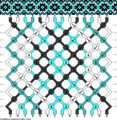 #70422 - friendship-bracelets.net 14 fils - 4 couleurs