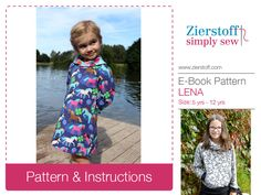 LENAs shawl collar shirt / dress pattern, sizes 110-152 / 5-12 yrs. / INSTANT DOWNLOAD by MyZierstoff on Etsy