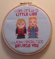 Sansa/Tyrion Cross-Stitch by puzzled-penguin