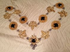 Renaissance Fleur de lis chain of office or livery by CourtlyCharm