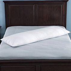 """Puredown 30% White Goose Down Body Pillow, 100% Cotton Cover, White, 20""""60"""""""