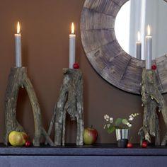 wooden candleholders