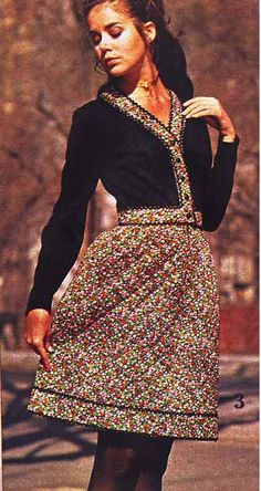 1971 Fall Winter Spiegel quilted skirt Colleen Corby