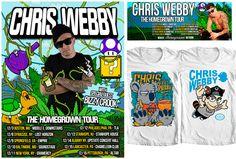 "Tour Poster, Social Media Banner, and tees created for rapper Chris Webby's ""Homegrown Tour"". by Matt Gondek"