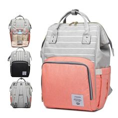 e0baa37d9881 Fashion Mummy Striped Maternity Nappy Bag. Best Diaper BackpackTravel  BackpackLarge ...