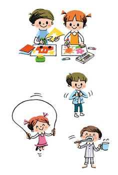 Japanese Illustration, People Illustration, Children's Book Illustration, Digital Illustration, Doodle Characters, Cute Characters, Cartoon Drawings, Cute Drawings, Kids Graphic Design