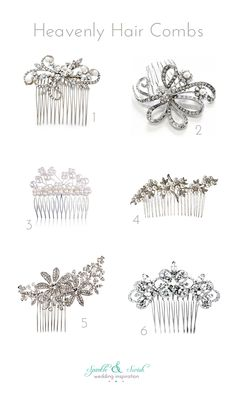 Bridal hair combs on Sparkle & Swish today - lots of sparkling wedding accessories to choose from!
