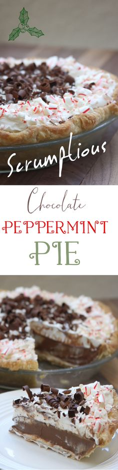 Scrumptious Chocolate Peppermint Pie recipe has 3 luscious layers. Uses peppermint essential oil with extract alternative. Rejoice, peppermint season is here. http://www.thefedupfoodie.com