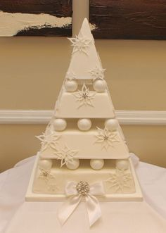 Different style wedding cake, great fun to make though