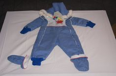 Vintage 1980's - Baby Snowsuit with Paddington Bear by TheMercerStreetHouse on Etsy