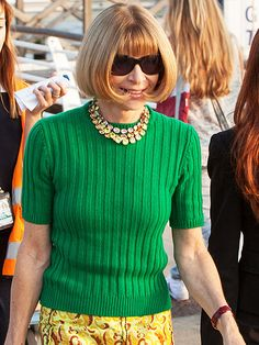 Ciao! See Who's Arrived in Italy for George & Amal's Wedding | ANNA WINTOUR | The Vogue editor-in-chief is characteristically chic ahead of the weekend festivities on Friday.