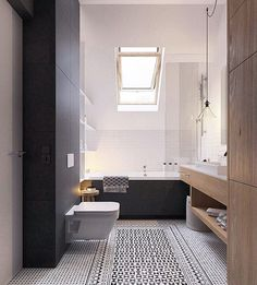 E o efeito lindo que deu para esse banheiro com os ladrilhos hidráulicos do piso? Projeto de Zrobym Architects // And the beautiful effect in this bathroom with hydraulic tiles on the floor? Project by #ZrobymArchitects (www.inandoutdecor.com.br)  #inandoutdecor #banheiro #bathroom