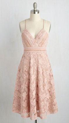 Blush Floral Lace dress - Modcloth