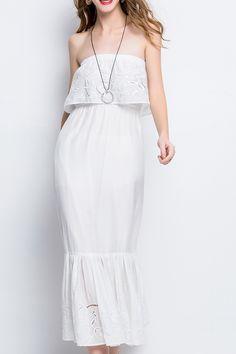 Aibiry White Strapless Mermaid Dress » Pretty!