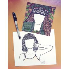 #tbt to adding a couple of the ALDC dancers to my faceless collection. also in honor of @therealabbylee checking out my art and following me a few days ago! #aldc #zentangle #zenspire #blynndesigns #KendallK #faceless #maddieziegler