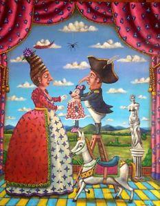 $899.99 German Rubio Napoleon Bonaparte Mexican Art #germanrubio #rosaritoartfest #losnaguales.com #mexicanart