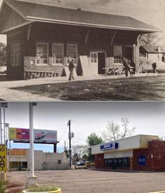 The Poplar Street Loop Site: Then & Now  After streetcar service was discontinued to Aurora, the end of the line was moved to Colfax & Poplar. This photo, taken in 1932, shows the construction of the brick streetcar station located at the Poplar Street Loop. The garage at Quebec House can be seen just to the right of the station in the background.  (Historic Photo from: Denver's Street Railways Volume II - 1901-1950, compiled and written by Don Robertson and Rev. W. Morris Cafky, 2004).