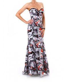 Уникална дизайнерска рокля на Мира Бъчварова | http://shopzone.bg/womens/рокли/77517/Дамска-вечерна-рокля-в-бяло-и-черно-на-Mira-Bachvarova