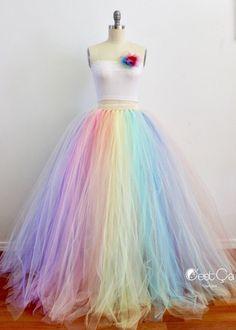 rainbow dress wedding dress diy tulle skirts Pastel Rainbow Maxi Tulle Skirt, Puffy Rainbow Tutu, Alternative Wedding Skirt, Plus Size Tulle Skir Rainbow Wedding Dress, Wedding Skirt, Modest Wedding, Wedding Dresses, Party Dresses, Diy Tulle Skirt, Tulle Dress, Tulle Skirts, Long Tutu Skirt