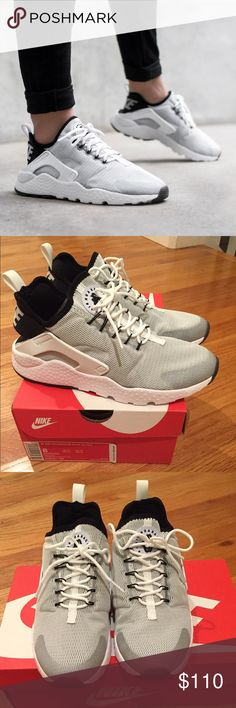 New nike ultra run huarache women 8.0 Brand new shoes in box. Size medium. Color is white / white / black.  Tax free. ⚡️SHIPPING &FREETOP-RATED SELLER % REPUTABLE eBay SELLER ✔️FEEDBACKS @ http://ebay.to/29sr08u                                                10% off bundle deals + 3   No trades or low ball offers No holds. Nike Shoes Athletic Shoes