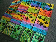 Praca plastyczna 3rd Grade Art Lesson, First Grade Art, Spring Art Projects, Cool Art Projects, Drawing For Kids, Art For Kids, Classroom Crafts, Art Club, Summer Art