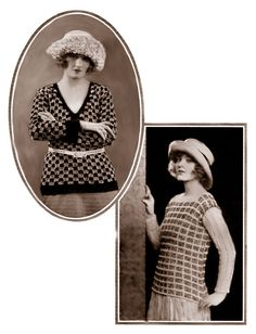 Roxbury and Covington sweaters From Fleisher's Knitting and Crocheting Manual, 1922