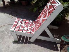 Cadeira feita com pallets