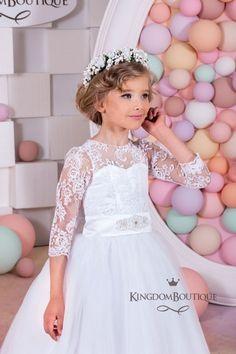 Niña de las flores de la boda vestido de fiesta fiesta de Dama