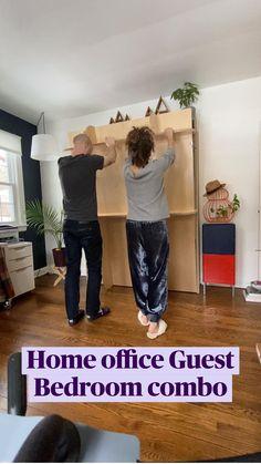 Guest Bedroom Home Office, Guest Bedrooms, Diy Bedroom Decor, Bedroom Ideas, Home Decor, Guest Room, Best Murphy Bed, Murphy Bed Ikea, Lori Walls