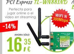#TP-Link PCI Express TL-WN881ND Wifi N 300Mbps. 04/08/2015 - En abril, ofertas mil  http://www.opirata.com/tplink-express-tlwn881nd-wifi-300mbps-p-9859.html